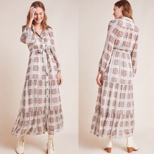 Anthropologie Elisabeth Puffed Long Sleeve Dress